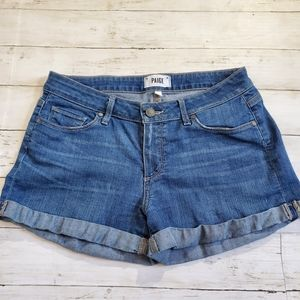 Paige the jimmy short short jean shorts cuffed